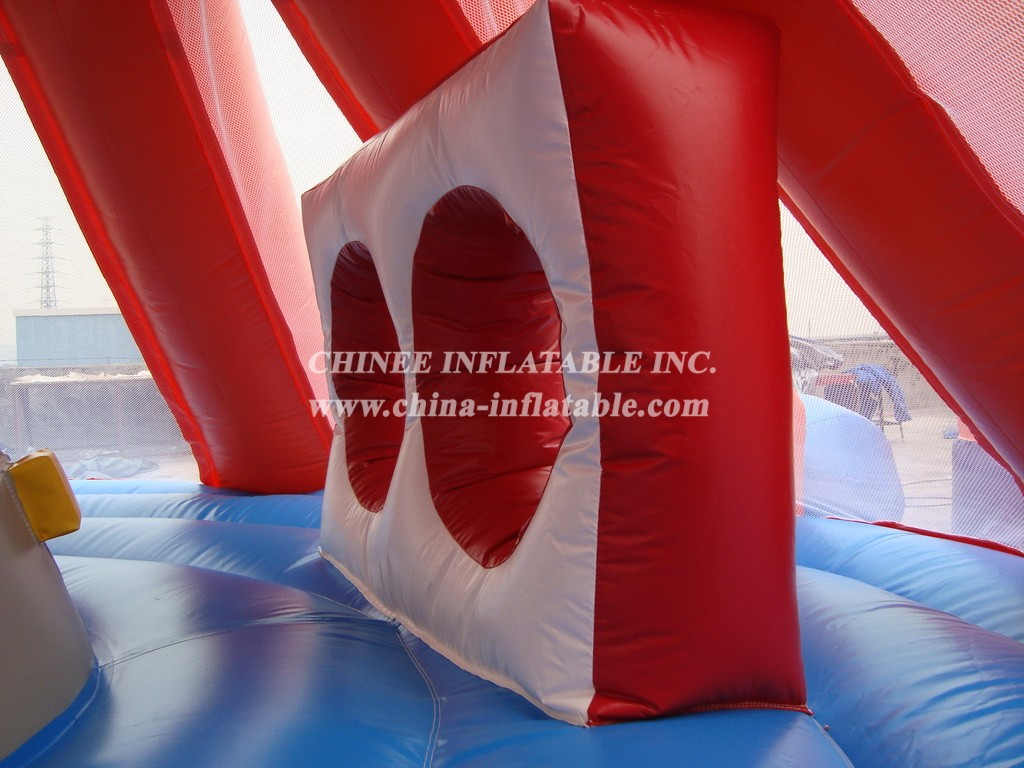 T2-203 inflatable Octopus jump bed