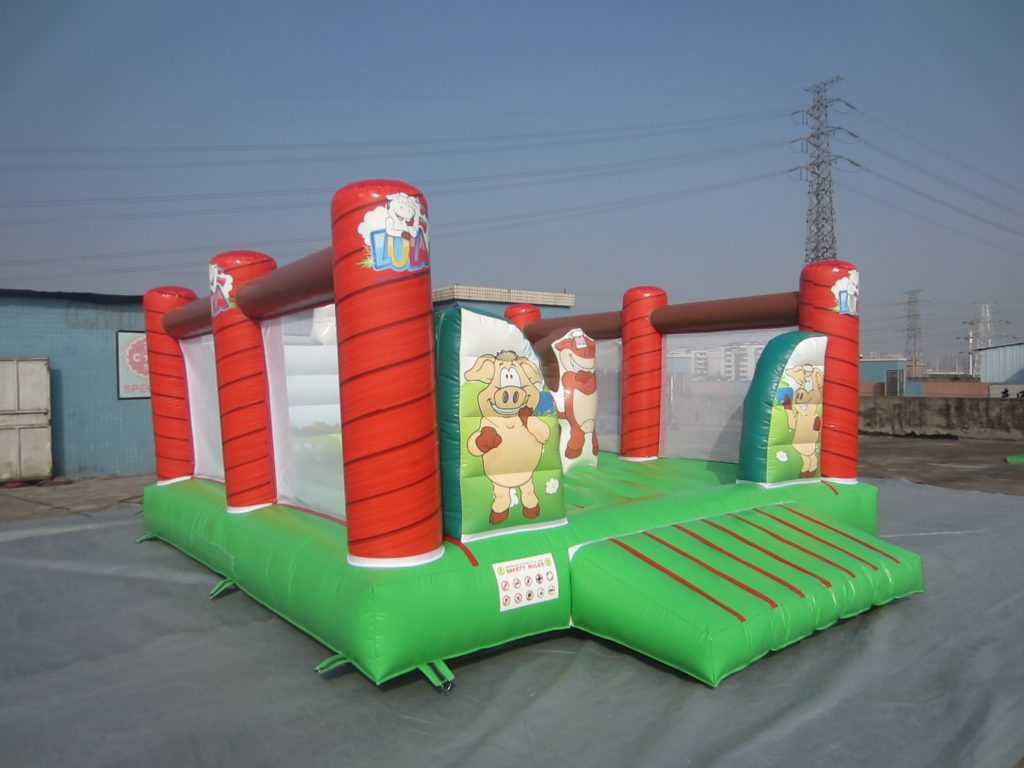 T2-3269 inflatable bouncer happy farm