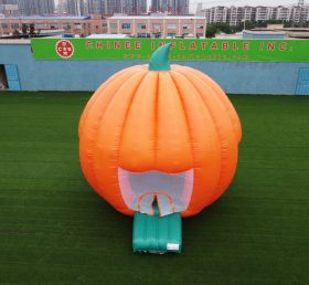 T4-34 Funny giant inflatable pumpkin bouncer /halloween inflatable jumping castle with blower for kids