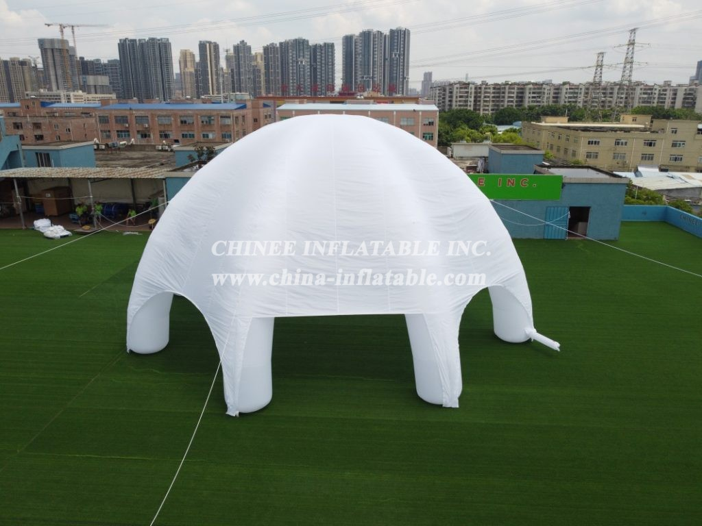 tent1-403 Customized commercial lawn marquee white inflatable spider tent