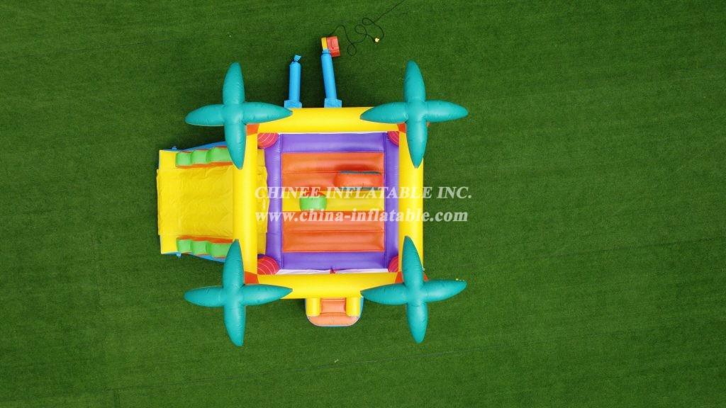 T2-3084 Inflatable tropics castle