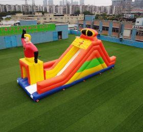 T8-1075 Superman Family Theme Inflatable Slide Kids Playground
