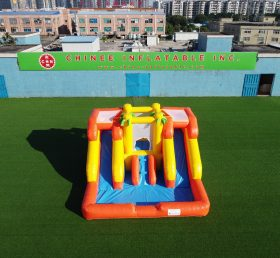 T6-243 inflatable water slide with pool