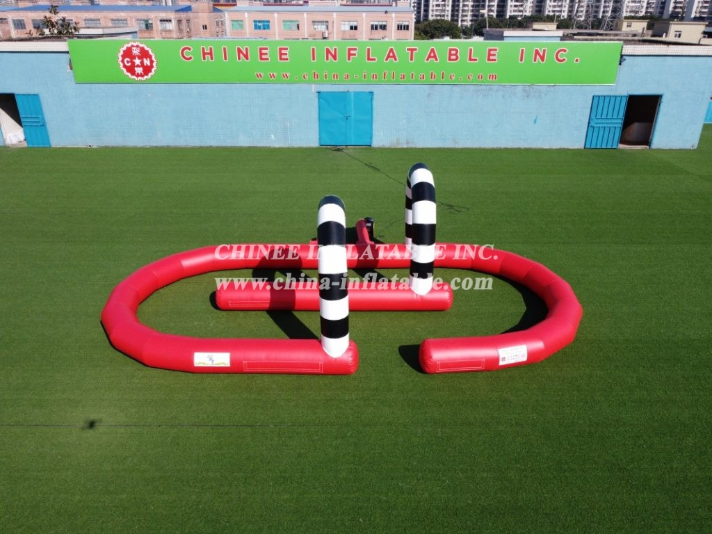 T11-636 Inflatable Racing Track Inflatable Go Kart Race Track from Chinee inflatables