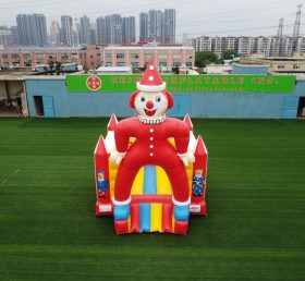 T2-379 Clown theme outdoor bouncy castle for kids party event