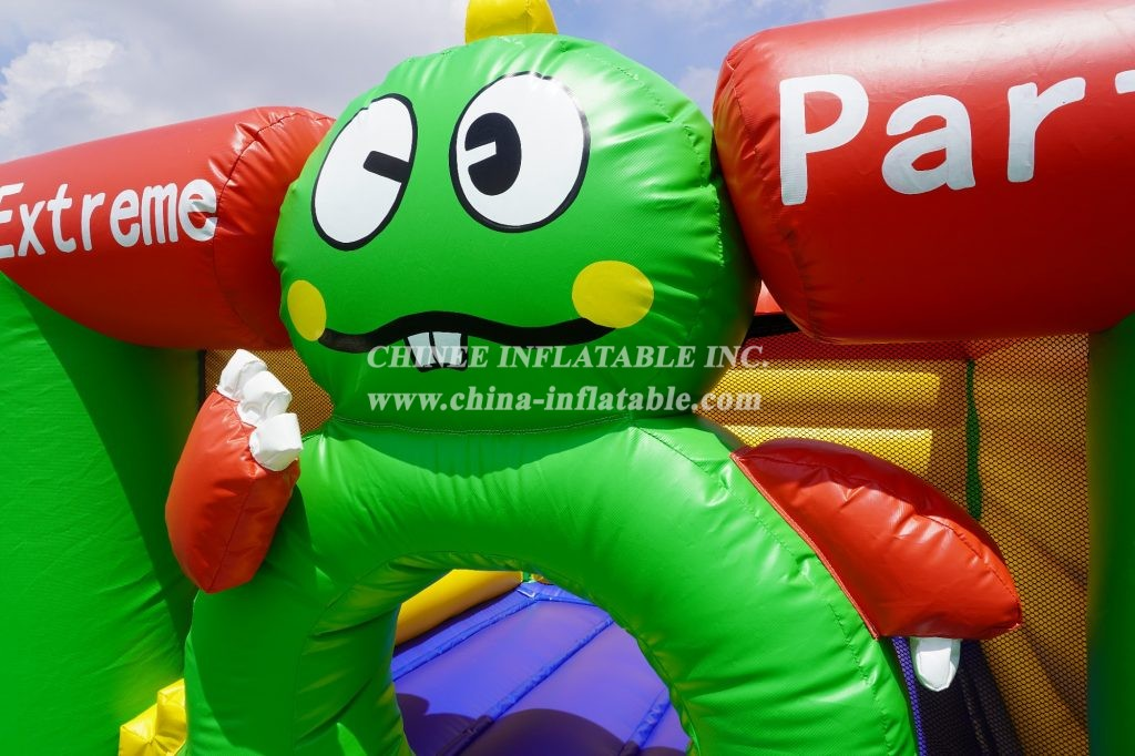 T1-8 Big eye frog theme inflatable bouncer