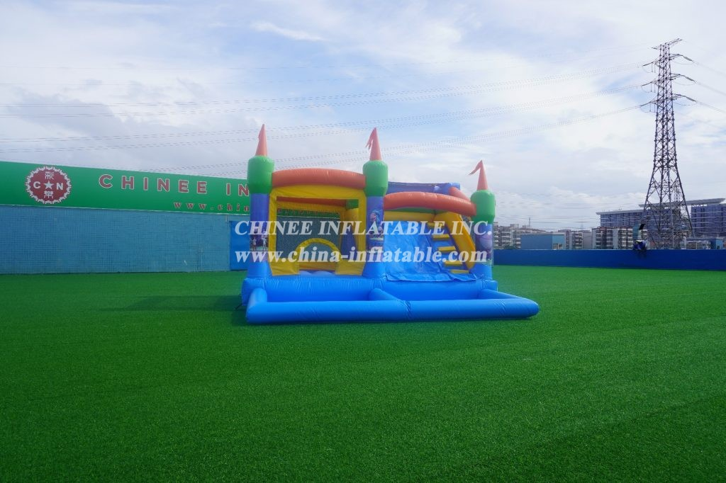 T2-3037 three-in-one inflatable castle