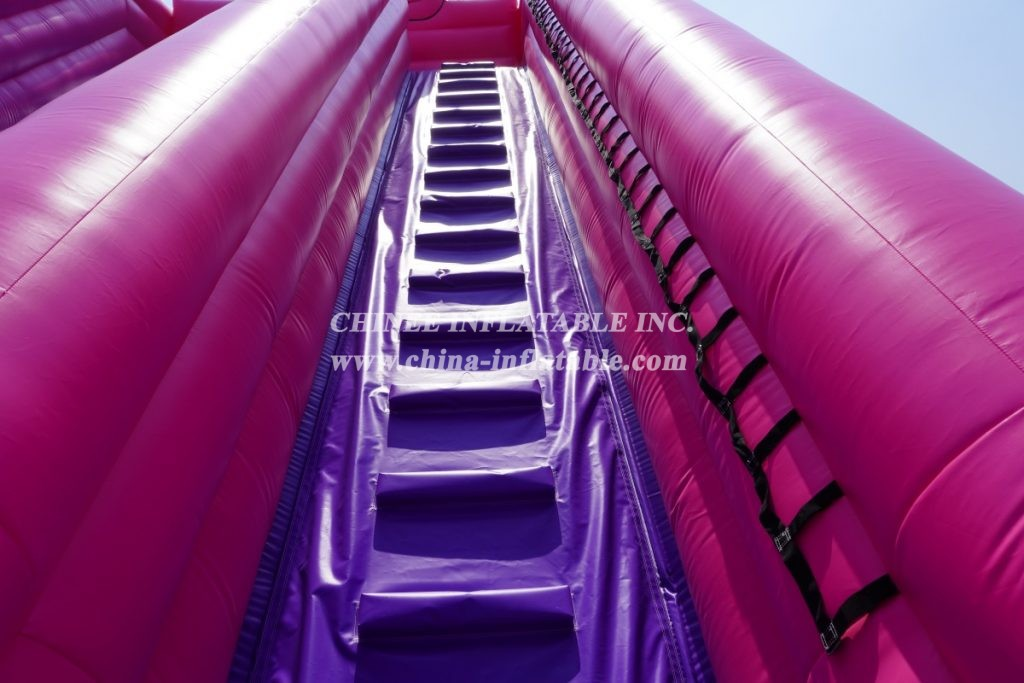 T8-704 Pink Panther theme giant inflatable slide kids outdoor party event