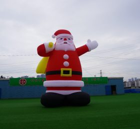 C1-130 inflatable Christmas Santa Claus decorations 8m height