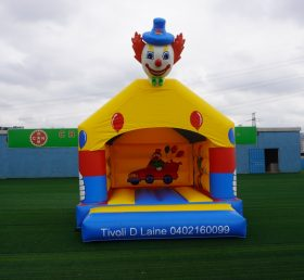 T2-2835 Inflatable bouncers clown theme jumping house for kids