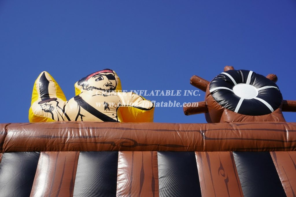 T8-1351 pirate ship theme inflatale slide