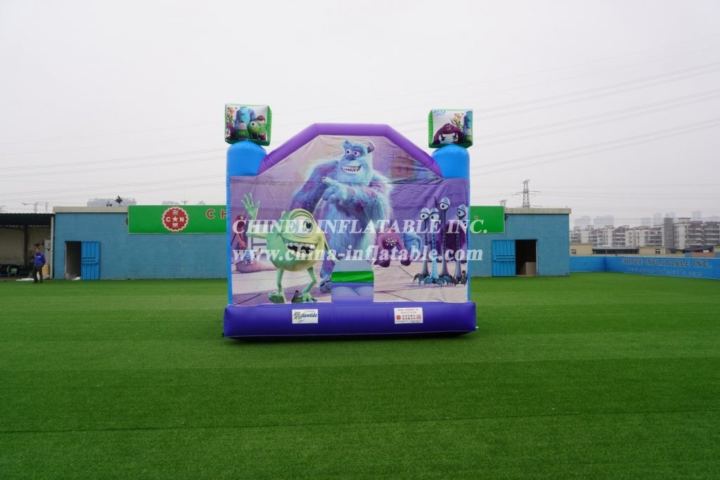 T2-2988 outdoor indoor kids jumper monster theme bouncer castle combo