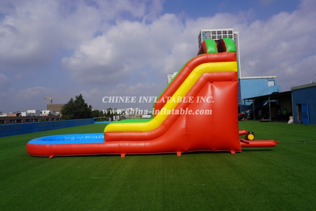 T8-569 commercial slide with water pool for kids inflatable slide