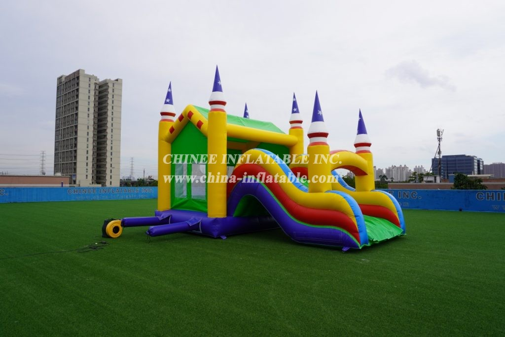 T5-181 Two-in-one bouncing with slide commercial castle jumper