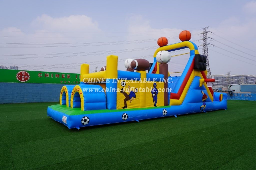 T7-404 inflatable soccer ostacle challenge run
