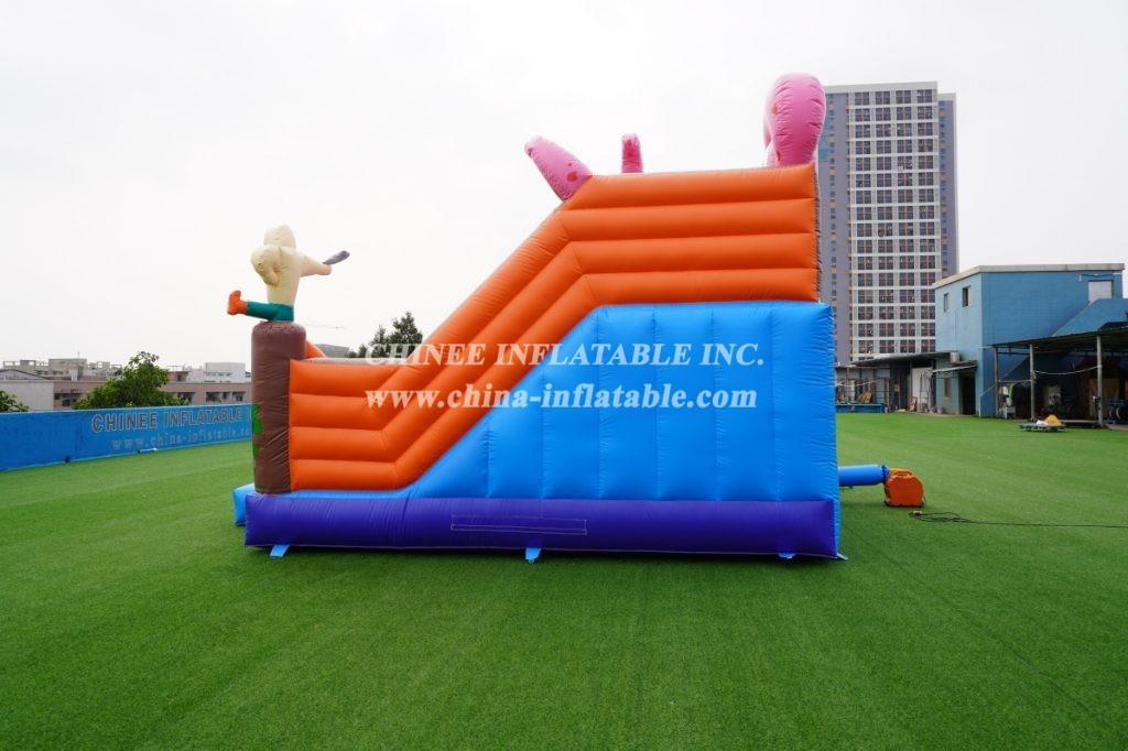 T8-1398 inflatable pirate Ship castle Captain Slide