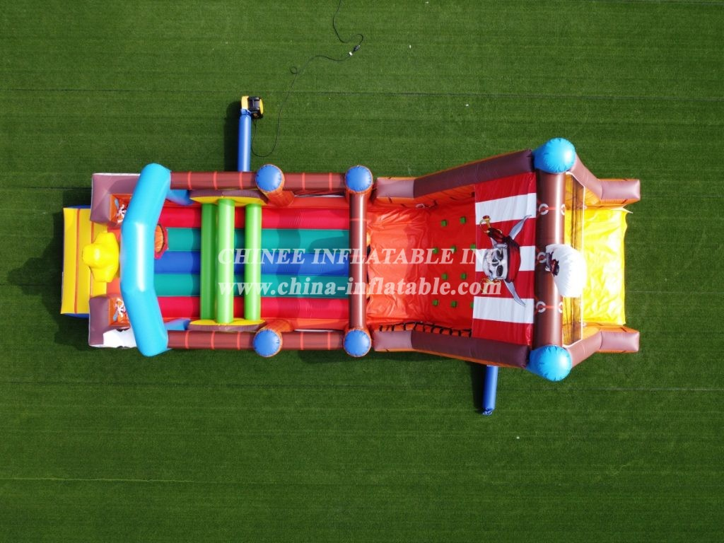 T7-568 Pirate theme inflatable obstacle course party rentals for team events