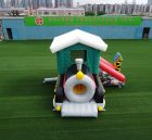 T2-3307 Steam train bouncy house inflatable combo with slide kids party event