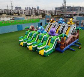 T6-472 Giant Jungle city inflatable Safari slide