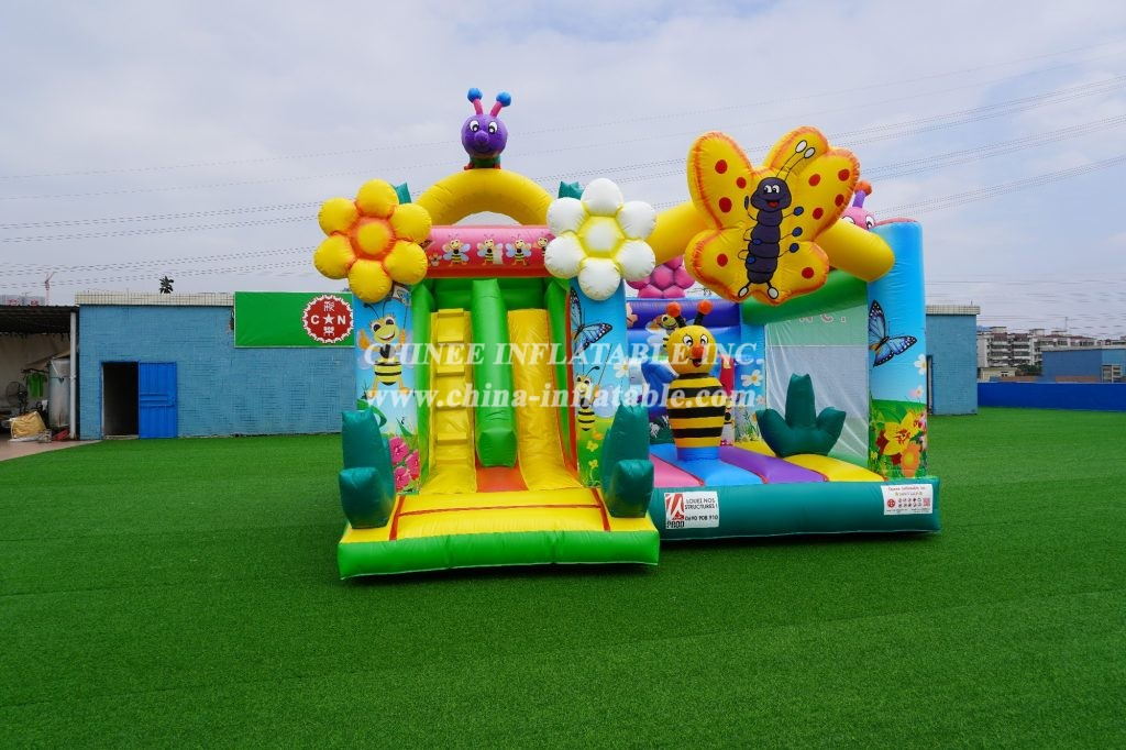 T2-3272 Busy bee theme inflatable combo
