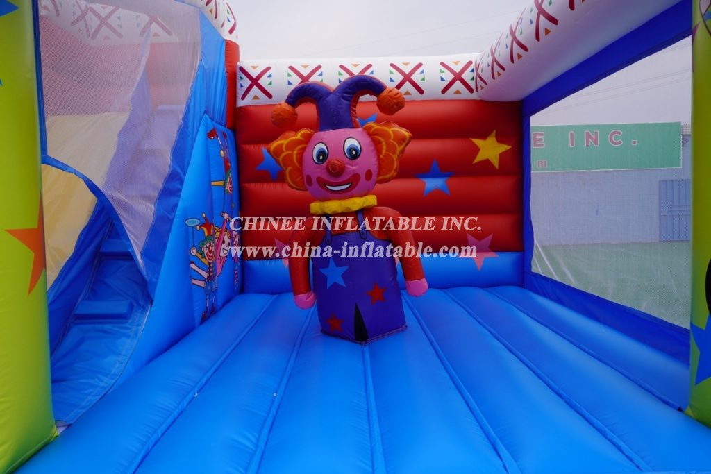 T2-3334 Clown inflatable castle  Clown Circus Jumping Castles