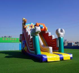 T8-1518 Inflatable little builders slide