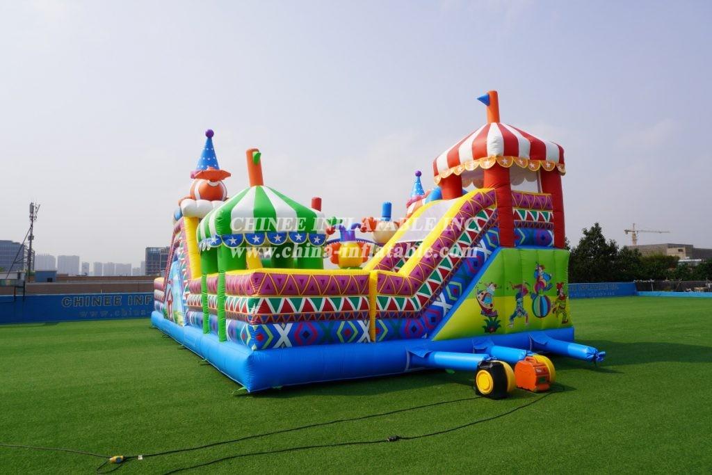 T6-438 Circus themed castle large clown slide