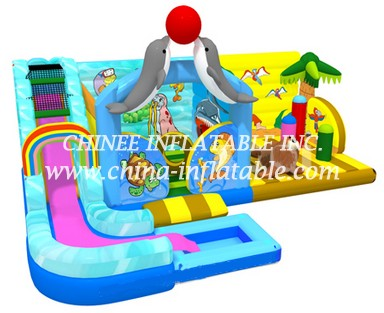 T2-3331 inflatable combo with slide