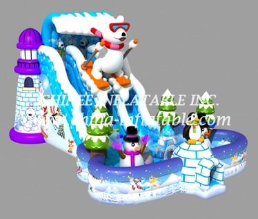 T8-1444 inflatable slide