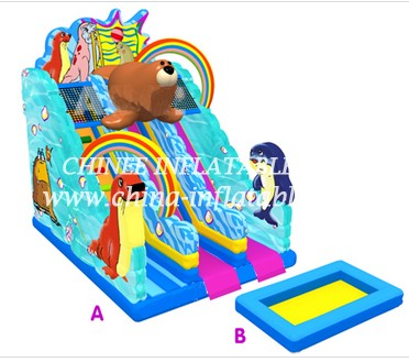 T8-1520 inflatable slide