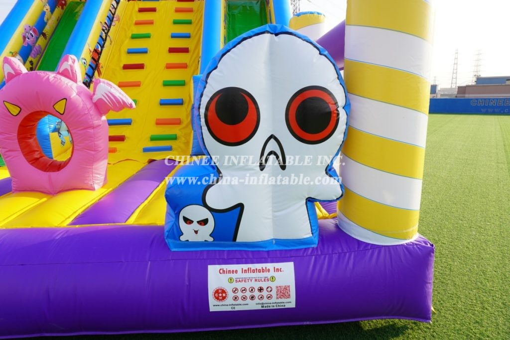 T8-1523 Spooky Ghost Slide Halloween slide