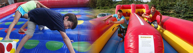 Inflatable Twister & Bungee Run