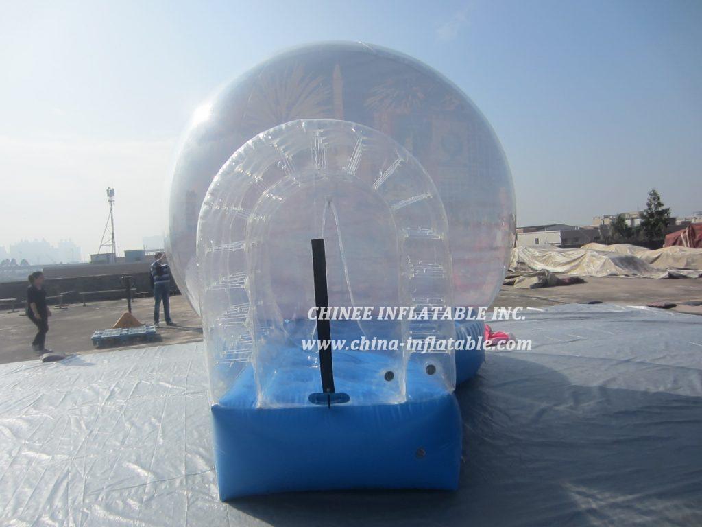 T2-3409 bubble snowball christmas bouncer