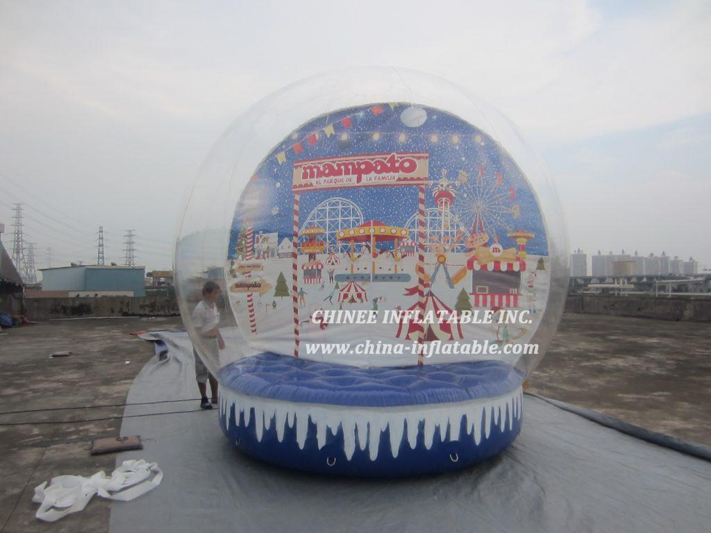 T2-3408 bubble snowball christmas bouncer