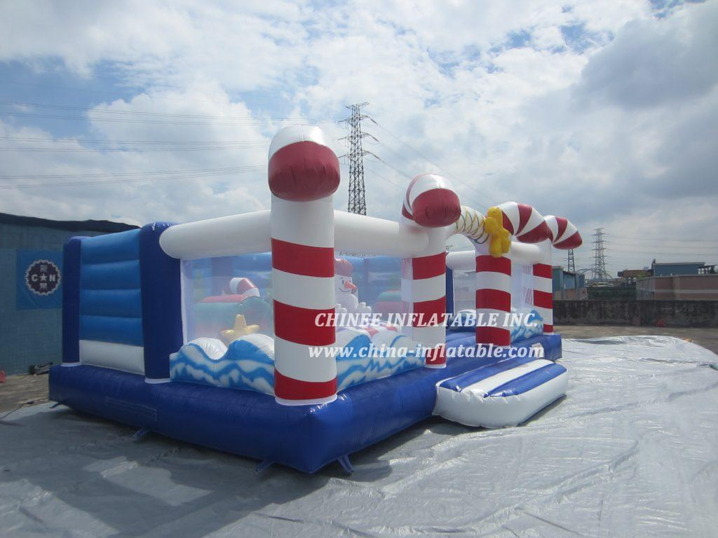 T2-3411 christmas candy  snowman bouncer
