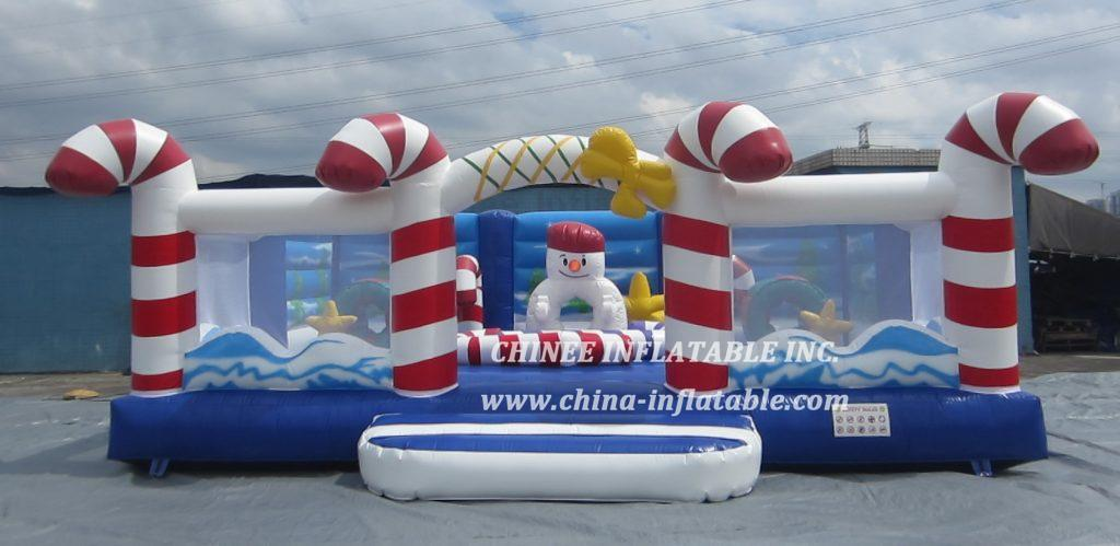 T2-3411 christmas candy  snowman bouncer