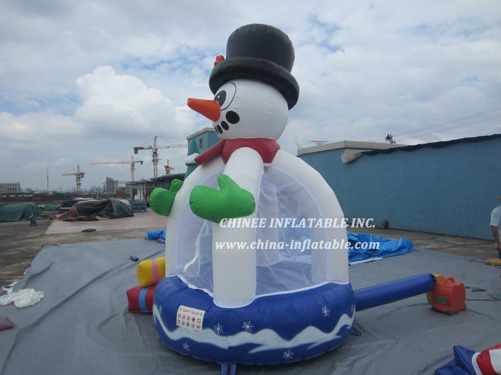 T2-3413 christmas tree snowman bouncer