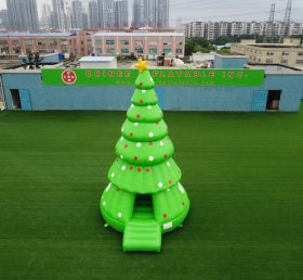 T2-3410 Inflatable christmas tree holiday themed bounce house kids party game