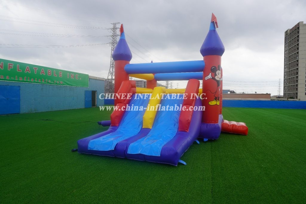 T5-687  Mickey Mouse bouncy castle with slide