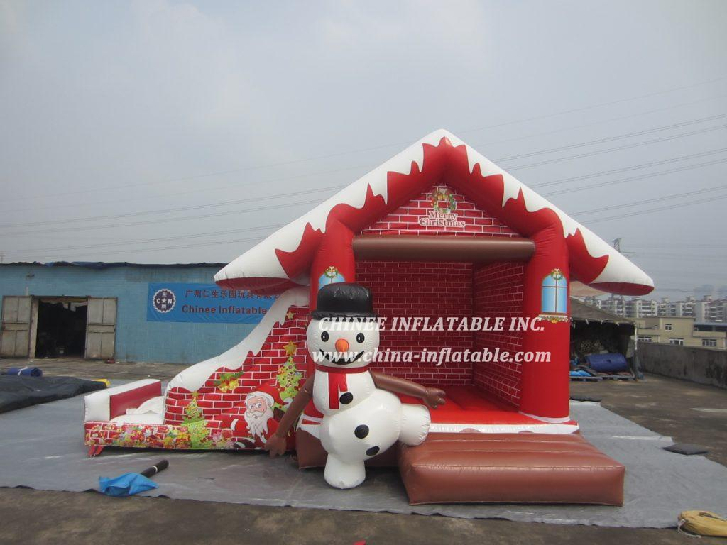 T2-3431  Christmas snowman bouncer with roof
