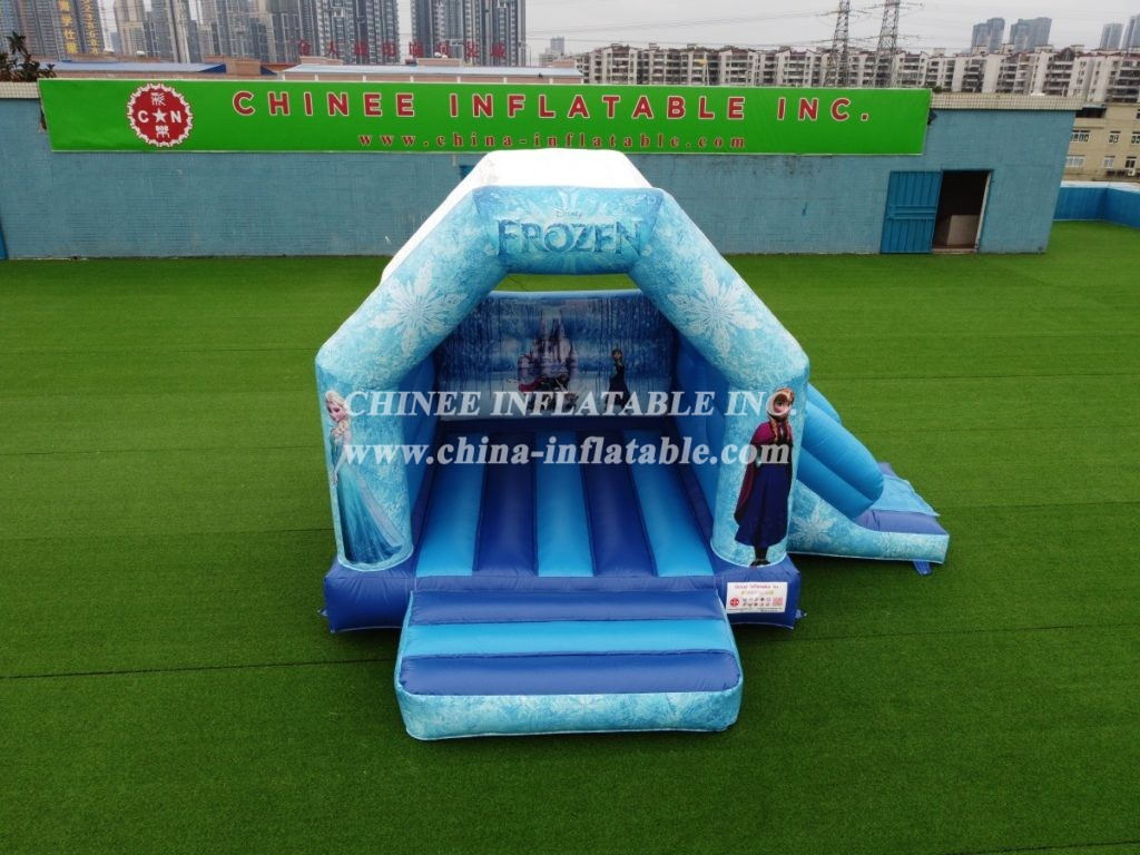 T2-3488  indoor outdoor inflatable frozen combo Elsa anna bounce house from Chinee inflatbles