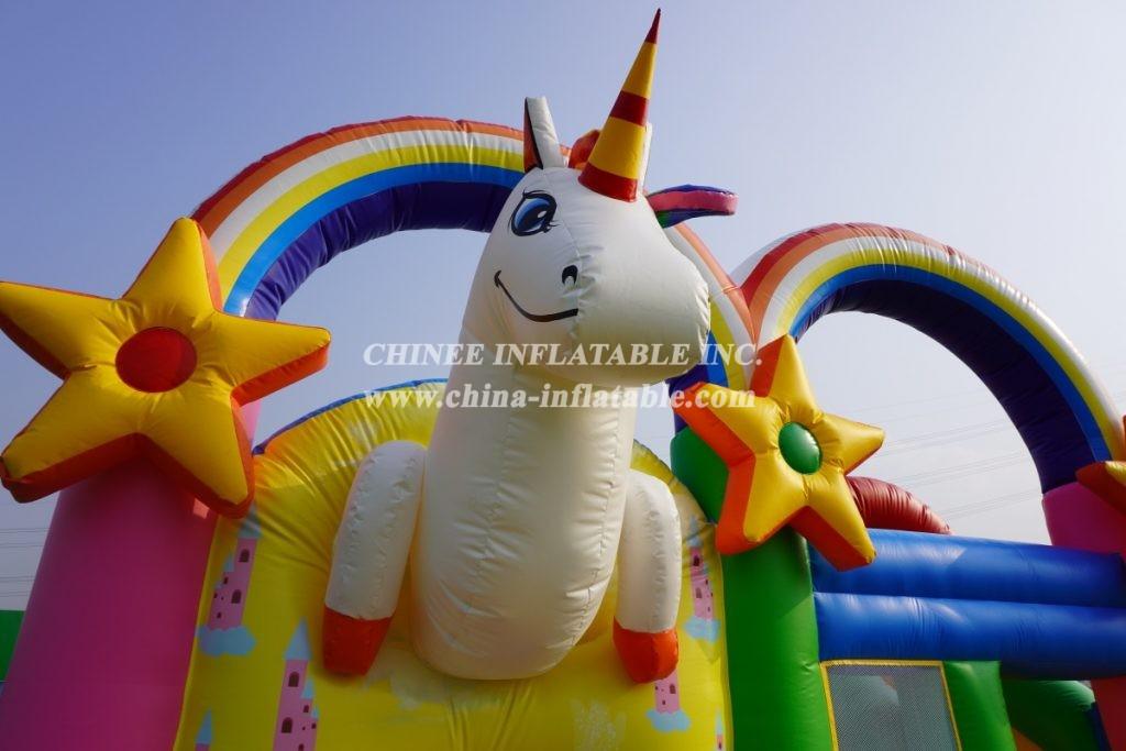 T2-3428 Unicorn castle little pony combo
