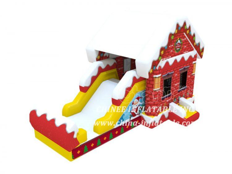 T2-3450  Xmas House Inflatable Combo