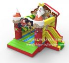 T2-3459 Christmas Shop Bouncy Castle
