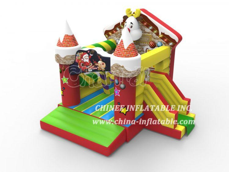 T2-3459 Christmas Shop Bouncy Castle