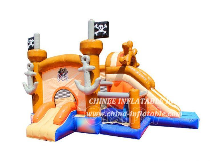 T2-3476 Small Pirate Ship Bounce House Combo