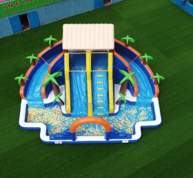 T6-608 Large water slide with pool