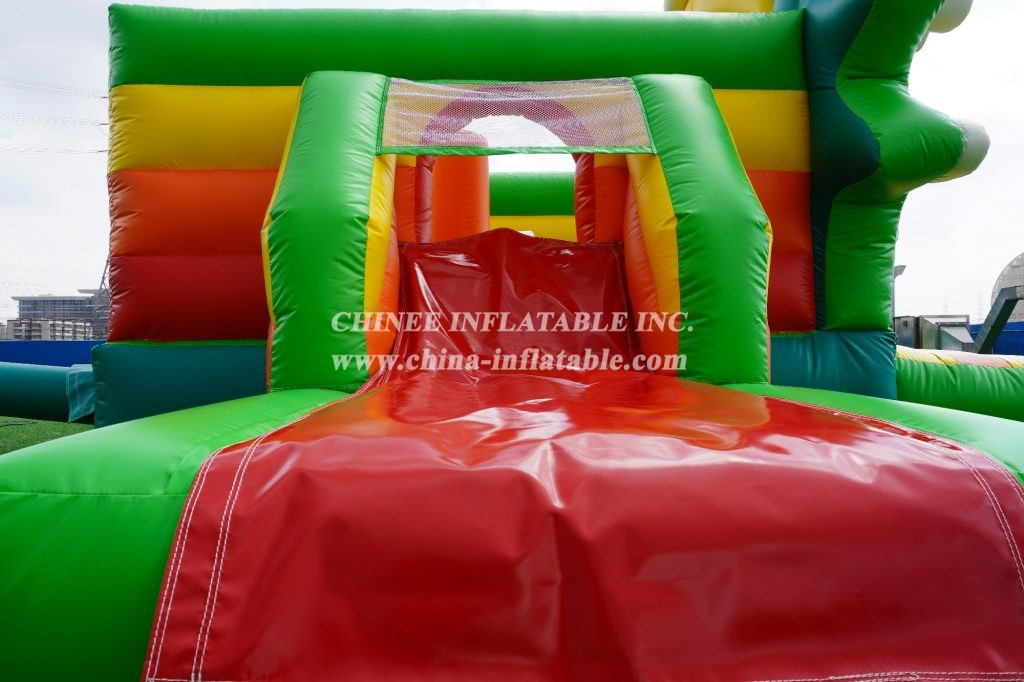 T2-3490 Jungle inflatable bouncer with slides