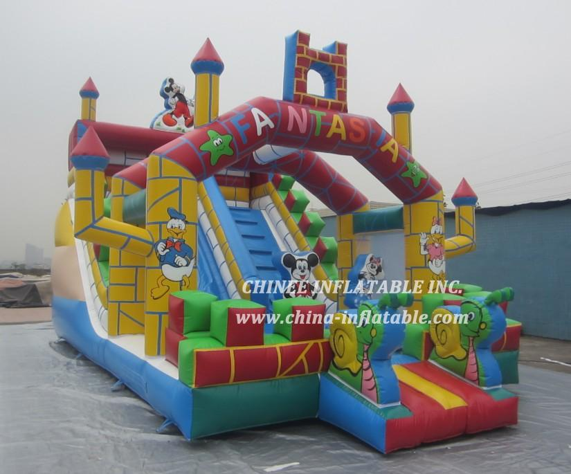 T8-834B Mickey & Minnie castle slide combo
