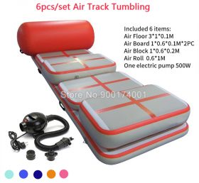 AT1-015  (6 Pieces) Inflatable Air Track Gymnastic Airtrack Tumbling Mat Gym Mini Air Mat For Sale